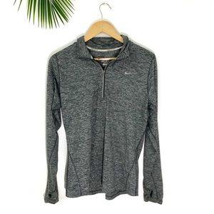 Nike | Quarter Zip Black & Grey Dri-Fit Pullover